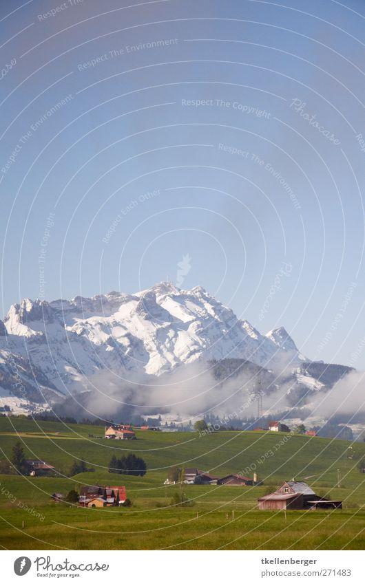 Eisberg Himmel Natur blau Ferien & Urlaub & Reisen weiß grün Baum Wolken Landschaft Ferne Umwelt Berge u. Gebirge Gras Frühling wandern Alpen