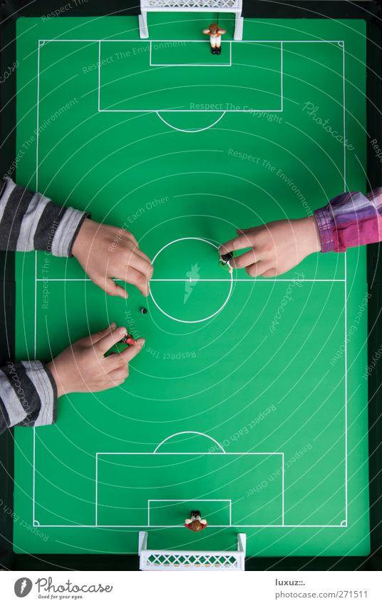 Fußballplatz Torwart Sportstätten Stadion Spielen Freude Sportveranstaltung Halbfinale Unterzahl Farbfoto