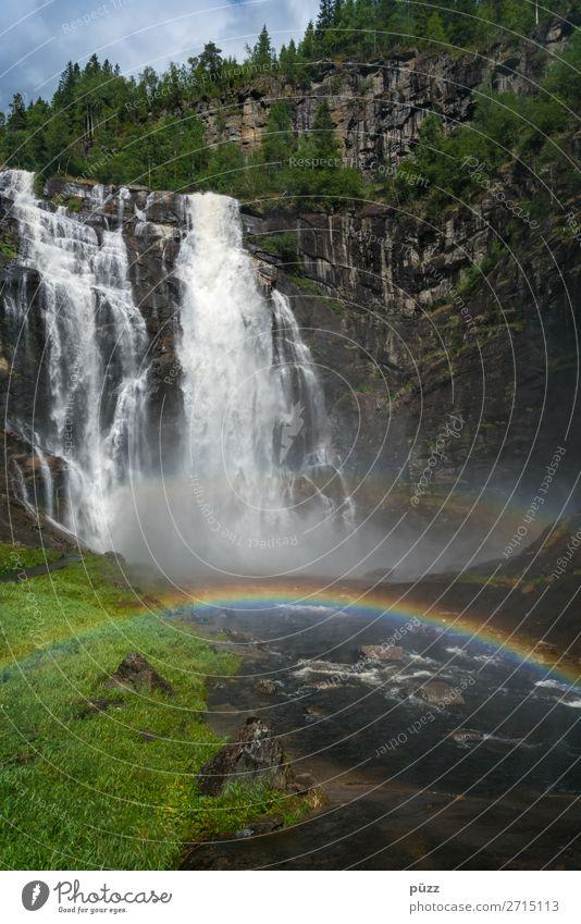 Rainbow Falls Ferien & Urlaub & Reisen Tourismus Ausflug Abenteuer Sommer Sommerurlaub Sonne Berge u. Gebirge wandern Umwelt Natur Landschaft Urelemente Luft