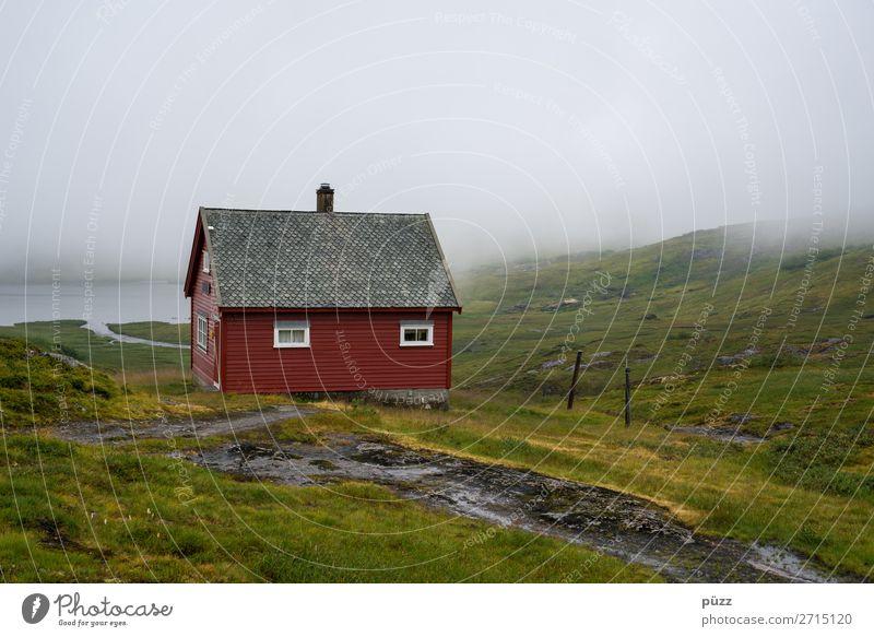 Rote Hütte II Ferien & Urlaub & Reisen Tourismus Ausflug Ferne Freiheit Berge u. Gebirge wandern Umwelt Natur Landschaft Pflanze Erde schlechtes Wetter Regen