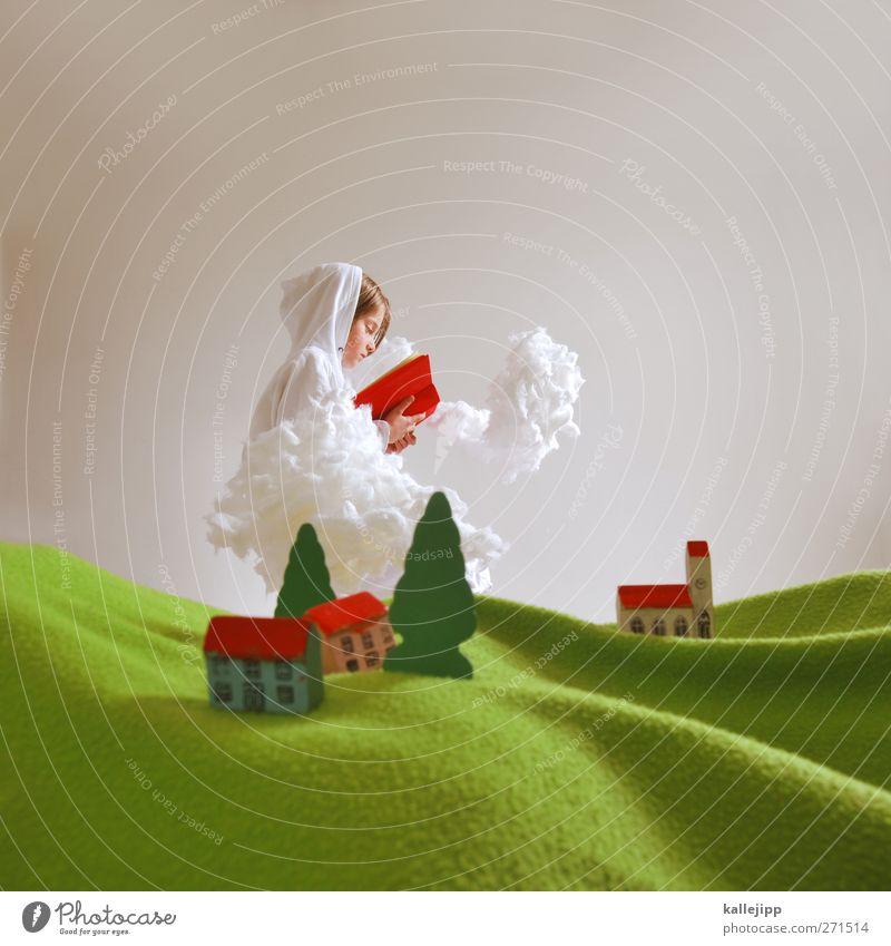 über den wolken Mensch Kind Natur Baum rot Pflanze Wolken Umwelt Landschaft Gras Religion & Glaube Kunst Kindheit Buch lesen Kultur