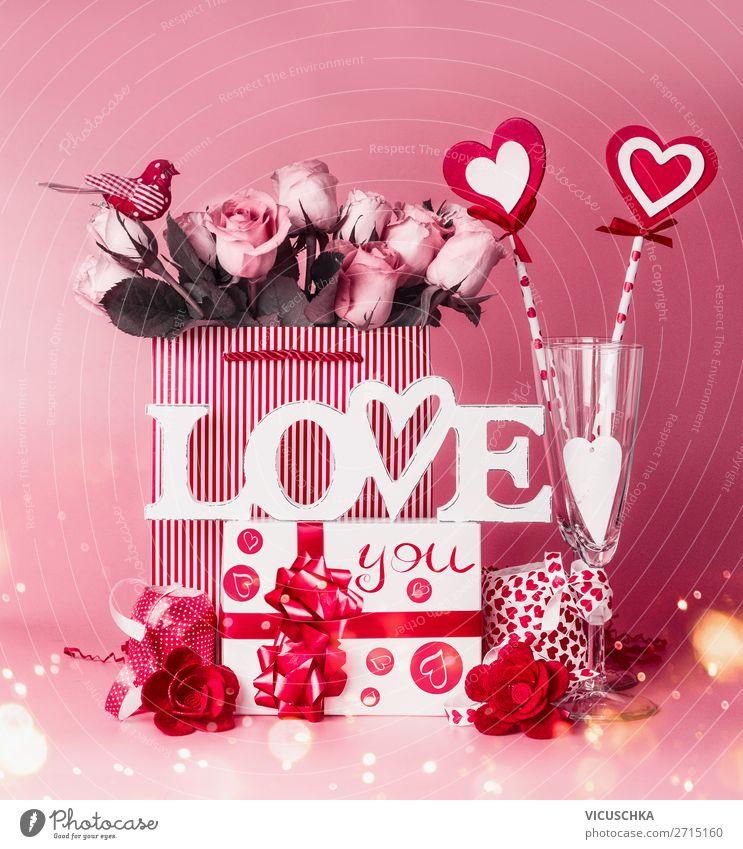 Romantische Komposition zur Valentinstag Party kaufen Stil Design Innenarchitektur Dekoration & Verzierung Veranstaltung Restaurant Feste & Feiern Blumenstrauß
