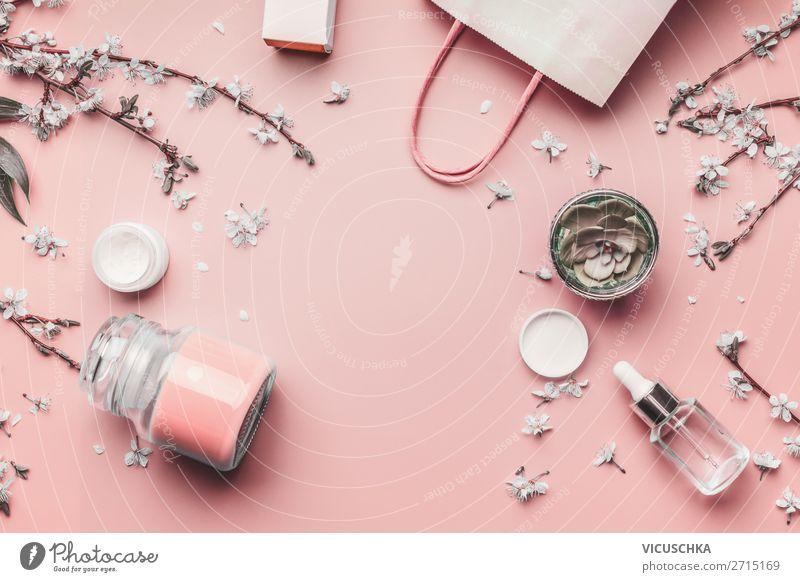 Kosmetik- und Hautpflege Hintergrund kaufen Design schön Körperpflege Gesicht Creme Gesundheit Behandlung Natur Blatt Blüte Mode rosa Blog Hintergrundbild Serum