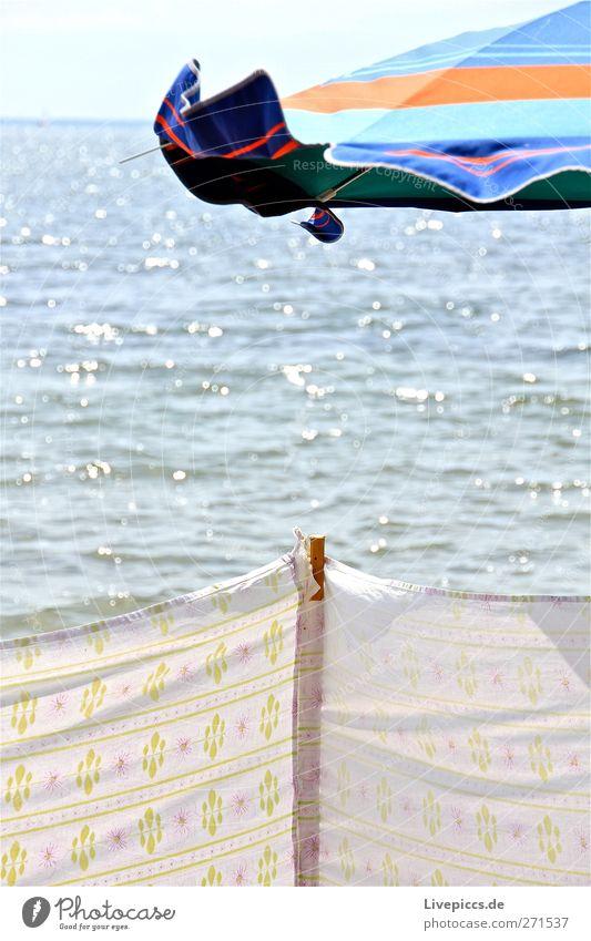 Muglitz Himmel Wasser Ferien & Urlaub & Reisen Sonne Strand Frühling See Insel Idylle Seeufer Sonnenschirm