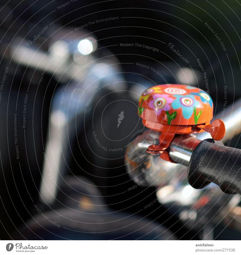 beautiful bicycle bell Freude schwarz feminin lustig Metall orange Fahrrad glänzend außergewöhnlich retro Fahrradfahren Stahl Rost trendy silber Begeisterung