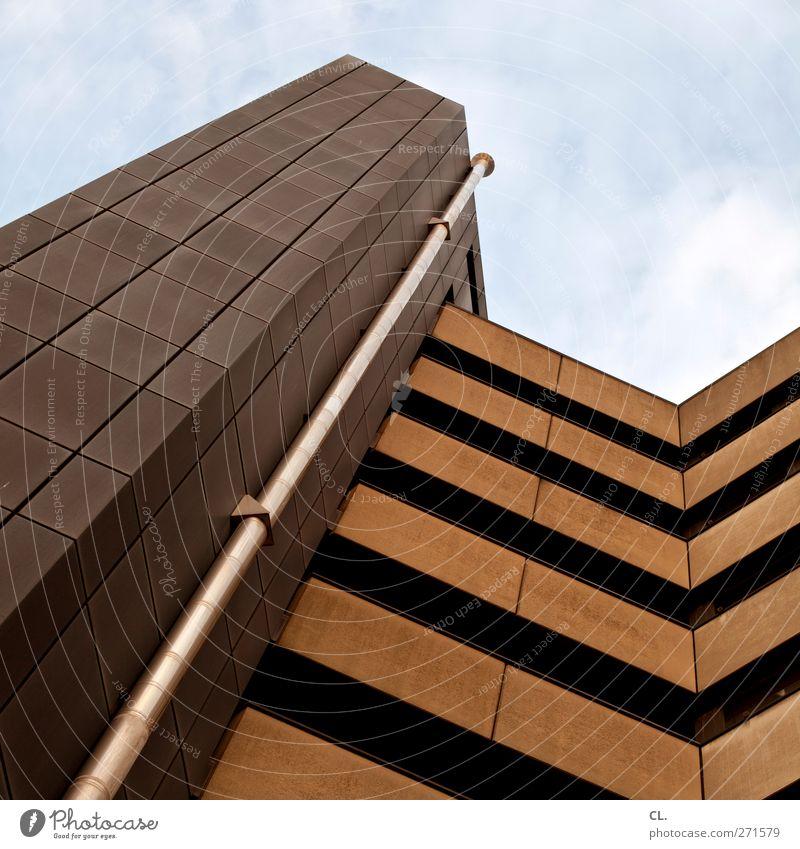 hochhaus Lüftungsrohr Hochhaus Bauwerk Gebäude Architektur Wand Fassade braun grau Gebäudekomplex Himmel vertikal Bürogebäude Gebäudeteil Strukturen & Formen