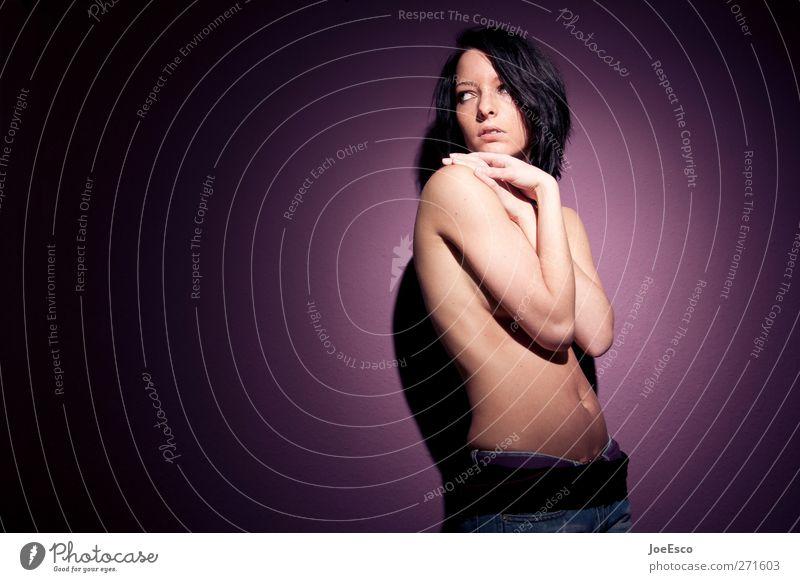 #271603 Mensch Frau Jugendliche schön Einsamkeit Erwachsene Erholung dunkel kalt feminin Leben nackt Gefühle Traurigkeit Körper warten