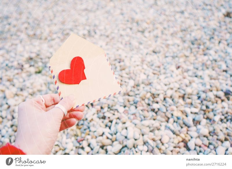 Schöner Hintergrund zum Valentinstag-Thema Stil Design schön Gesundheit Wellness Leben Handarbeit Feste & Feiern Familie & Verwandtschaft Paar Papier