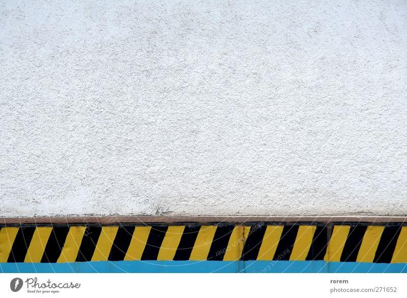 industrieller Hintergrund Arbeitsplatz Industrie Mauer Wand einfach gelb schwarz weiß Konstruktion Standort Ermahnung Beladung Dock pflücken Ware Lager laden