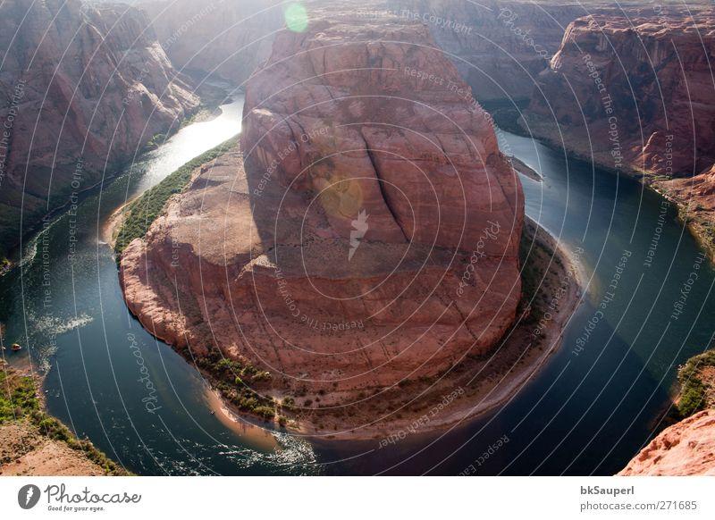 Hufeisenbiegung, Arizona Ferien & Urlaub & Reisen Tourismus Abenteuer Natur Landschaft Wasser Frühling Schönes Wetter Hügel Felsen Schlucht Grand Canyon
