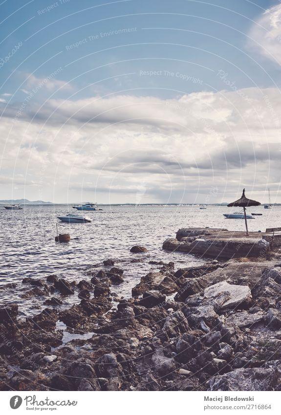 Felsiger Strand an der Küste von Mallorca, Spanien. Lifestyle Erholung Ferien & Urlaub & Reisen Tourismus Ausflug Abenteuer Ferne Freiheit Sommer Sommerurlaub