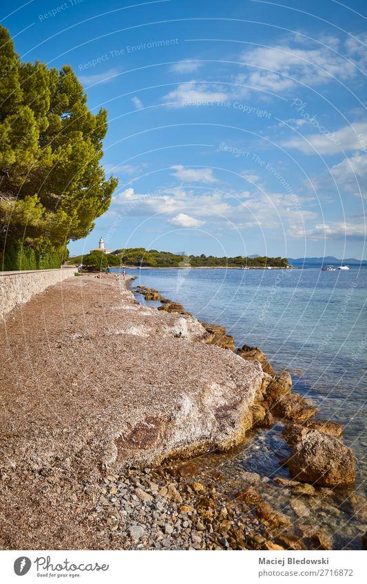 Alcanada Beach an der Nordküste Mallorcas, Spanien. Erholung Ferien & Urlaub & Reisen Tourismus Ausflug Abenteuer Ferne Freiheit Sommer Sommerurlaub Sonne