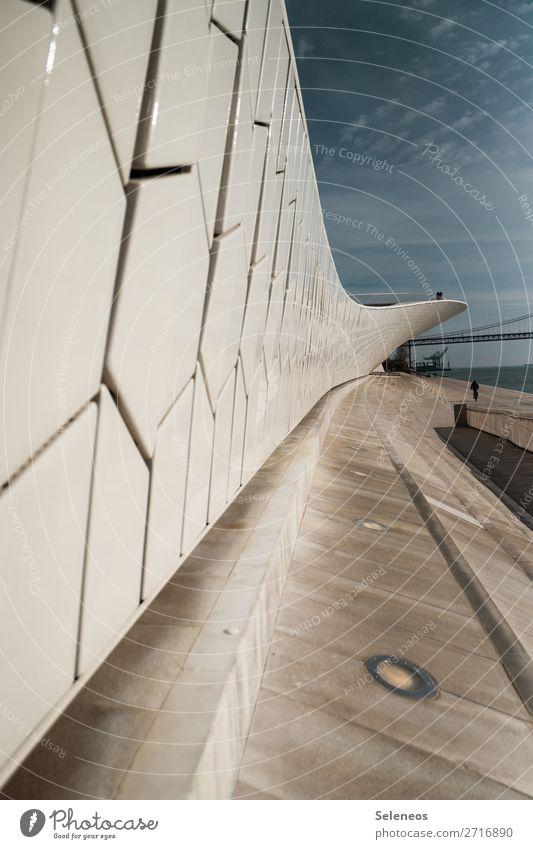Lisbon Ferien & Urlaub & Reisen Sightseeing Städtereise Lissabon Portugal Hauptstadt Brücke Bauwerk Architektur Fernweh Farbfoto Außenaufnahme
