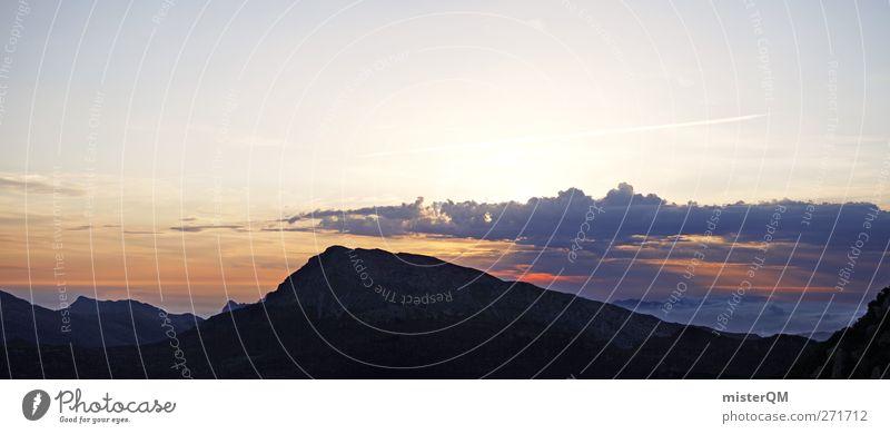 Awakening II Natur Wolken Ferne Umwelt Landschaft Berge u. Gebirge oben Erde Horizont hoch ästhetisch Panorama (Bildformat) Fernweh Mallorca aufwachen Bergkette
