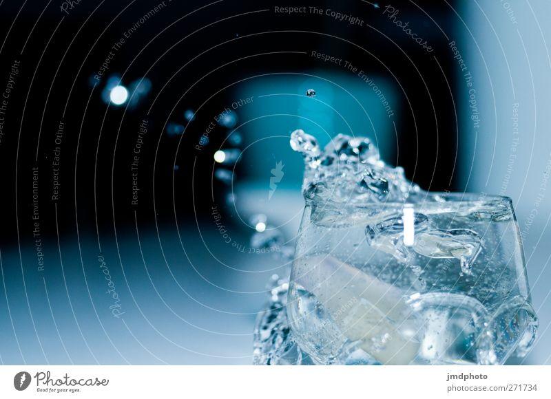 Splash II Umwelt kalt Stil Glas Trinkwasser frisch Wassertropfen Zukunft Coolness Klarheit Sauberkeit Tropfen trinken Bar Wissenschaften Flüssigkeit