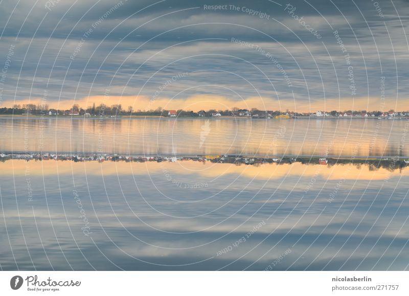 Hiddensee | Wie im Himmel, so auf Erden Himmel Wasser Ferien & Urlaub & Reisen Meer oben Küste Horizont Wetter Wellen Angst Freizeit & Hobby außergewöhnlich nass Abenteuer Seeufer unten