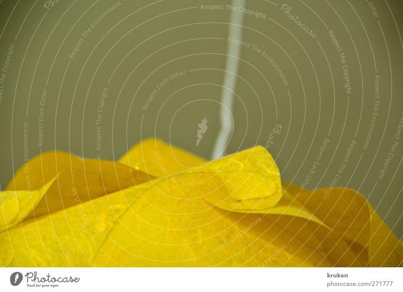 Lampenschirm Lampendetail Häusliches Leben eckig einfach nah oben retro rund verrückt gelb Farbe Surrealismus Farbfoto Innenaufnahme Makroaufnahme Experiment