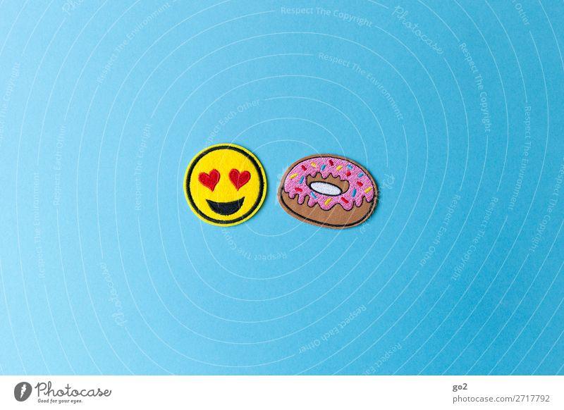 We love Donuts! Freude Lebensmittel Gefühle Feste & Feiern Ernährung Dekoration & Verzierung Geburtstag Herz Fröhlichkeit Lebensfreude genießen Zeichen lecker