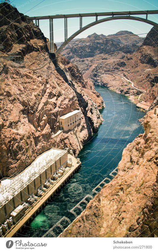Hoover Dam.04 Ferien & Urlaub & Reisen Tourismus Ausflug Abenteuer Ferne Freiheit Sightseeing Sonne Industrie Energiewirtschaft Technik & Technologie Landschaft
