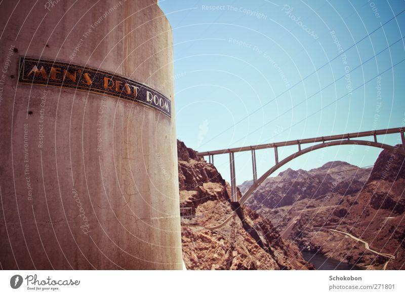 Hoover Dam.05 Ferien & Urlaub & Reisen Sonne Landschaft Ferne Berge u. Gebirge Wand Architektur Mauer Sand Felsen Erde wandern Schönes Wetter Tourismus Zukunft Ausflug