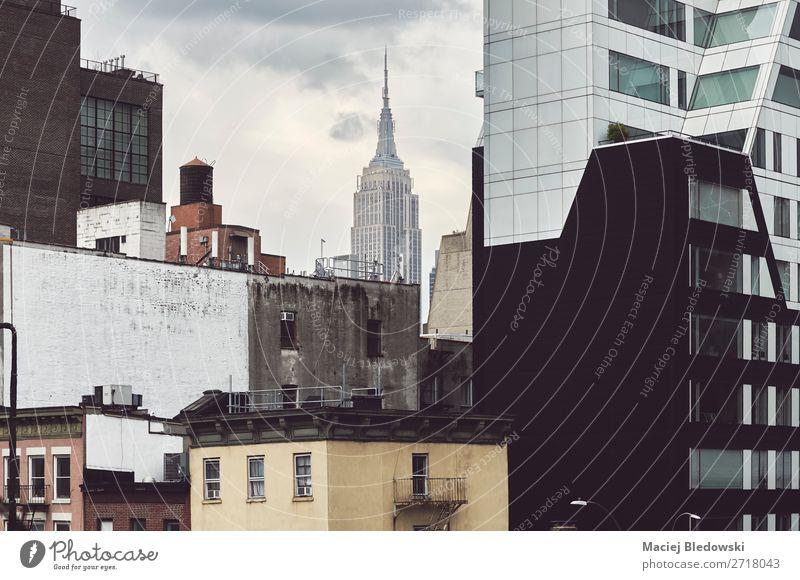 New York City alte und moderne Architektur, USA. Sightseeing Städtereise Häusliches Leben Wohnung Haus Traumhaus Büro Wirtschaft Stadt Stadtzentrum Skyline