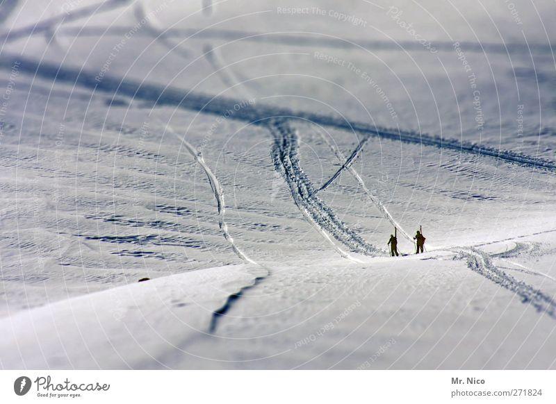 der weg ist das ziel Mensch Natur Ferien & Urlaub & Reisen Winter Umwelt Landschaft kalt Sport Berge u. Gebirge Schnee Freiheit Glück Eis Tourismus Abenteuer