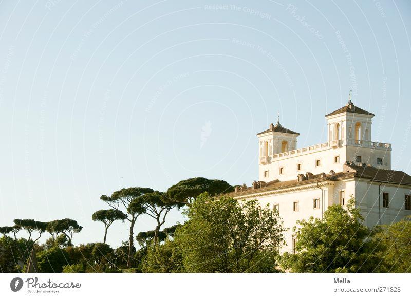 Erhaben Ferien & Urlaub & Reisen Sightseeing Städtereise Haus Architektur Kultur Rom Italien Europa Stadt Hauptstadt Menschenleer Bauwerk Gebäude Villa