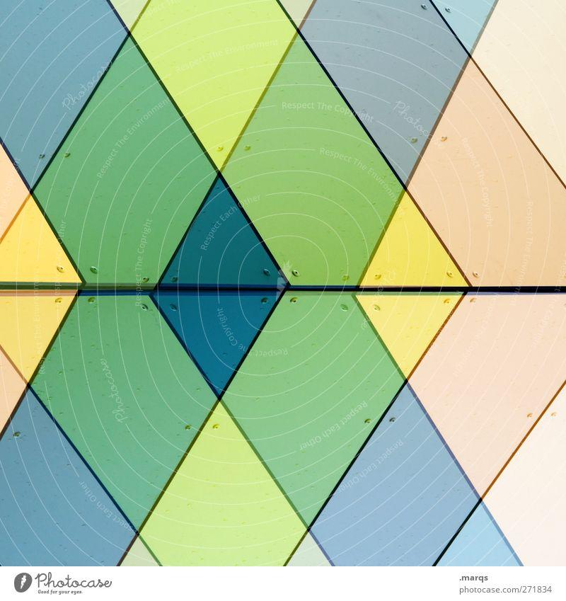 x² Lifestyle elegant Stil Design Fassade Linie Pfeil Streifen außergewöhnlich Coolness trendy modern schön mehrfarbig Farbe Hintergrundbild Doppelbelichtung