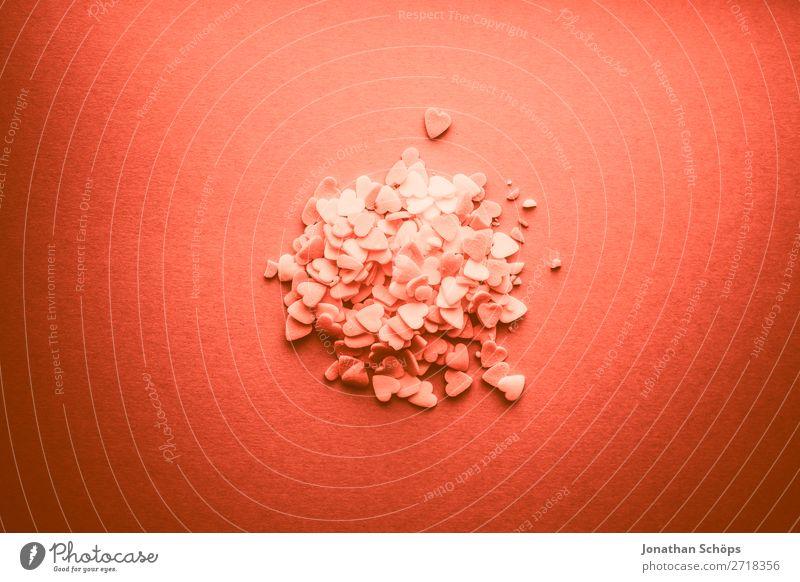 Herzen zum Valentinstag rot Erotik Freude Hintergrundbild Liebe Gefühle orange rosa Dekoration & Verzierung Papier graphisch Liebespaar backen Verabredung