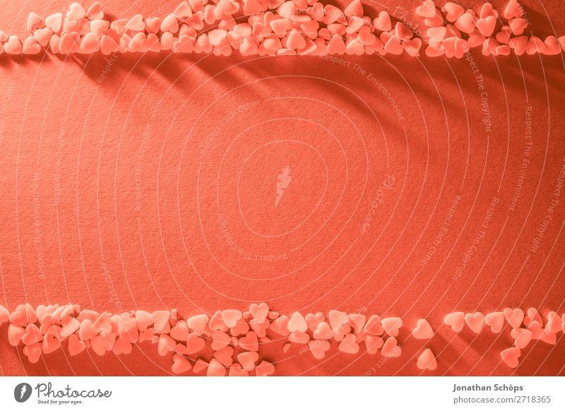 Rahmen Hintergrund mit Herzen zum Valentinstag rot Freude Hintergrundbild Liebe Gefühle rosa Papier graphisch Liebespaar backen Verabredung Farbkarte