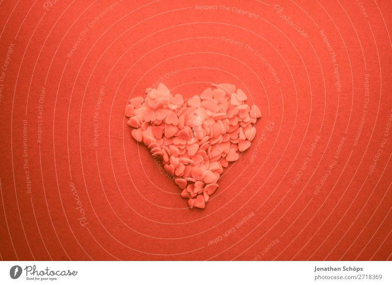 Herz zum Valentinstag rot Erotik Freude Hintergrundbild Liebe Gefühle rosa Papier graphisch Liebespaar backen Verabredung Frühlingsgefühle Korallen