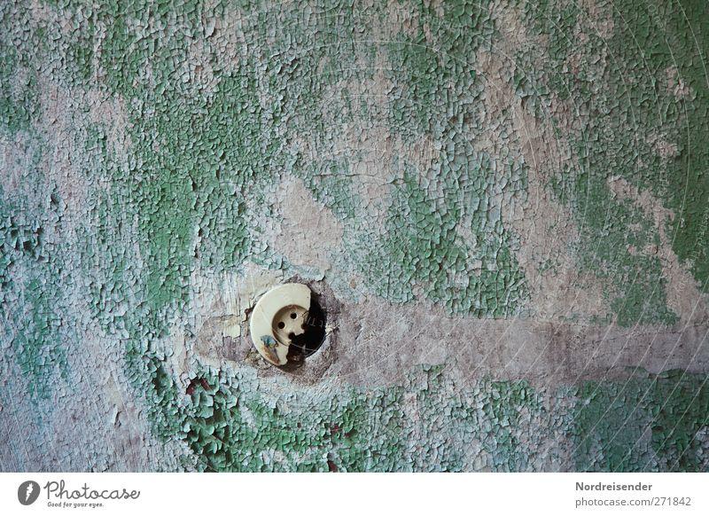 AST5 | Halbleiter weiß grün Wand Architektur Mauer Innenarchitektur Raum Energiewirtschaft Elektrizität kaputt Häusliches Leben bedrohlich Technik & Technologie