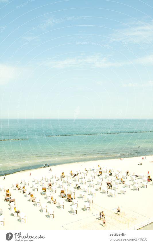 Sellin Schwimmen & Baden Ferien & Urlaub & Reisen Tourismus Ausflug Sommer Sommerurlaub Meer Umwelt Natur Himmel Horizont Klima Wetter Schönes Wetter Strand
