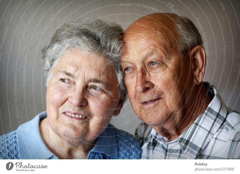 gemeinsam alt Mensch Frau Mann Erwachsene feminin Senior Glück Kopf Familie & Verwandtschaft maskulin Fröhlichkeit Lächeln Freundlichkeit 60 und älter