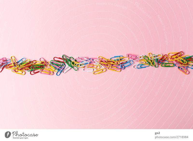 Bunte Büroklammern Büroarbeit Schreibwaren Dekoration & Verzierung ästhetisch Fröhlichkeit viele mehrfarbig Ordnungsliebe Farbe Idee Inspiration Kreativität