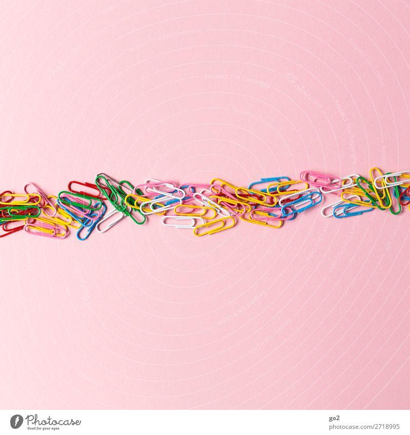 Bunte Büroklammern Büroarbeit Dekoration & Verzierung ästhetisch Fröhlichkeit mehrfarbig Idee einzigartig Inspiration Kreativität Ordnung Zusammenhalt