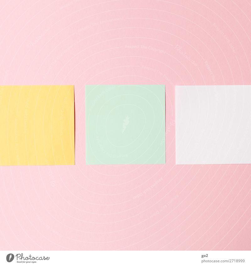 Farbige Zettel Schule Studium Arbeit & Erwerbstätigkeit Beruf Büroarbeit Arbeitsplatz Medienbranche Werbebranche Sitzung Schreibwaren Papier ästhetisch Design