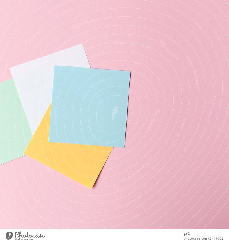 Farbige Zettel Schule Studium Arbeit & Erwerbstätigkeit Beruf Arbeitsplatz Büro Medienbranche Werbebranche Sitzung Schreibwaren Papier ästhetisch Design Farbe