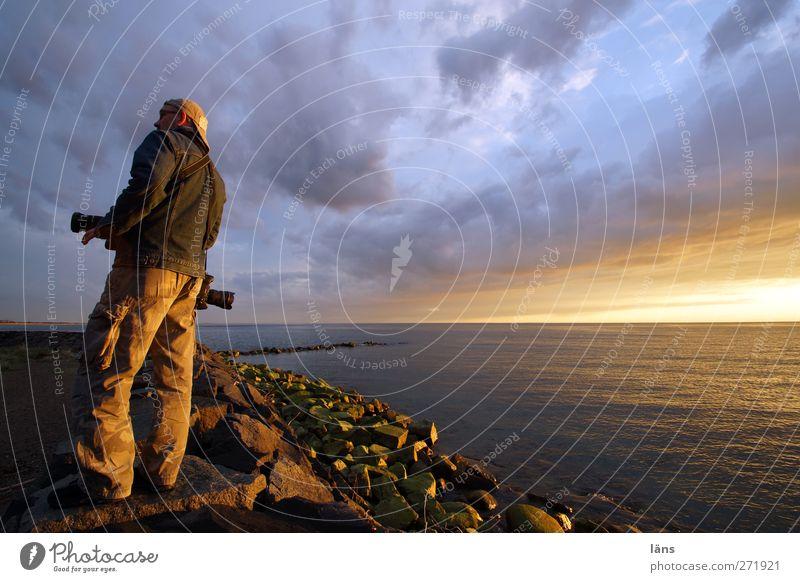 Hiddensee l aussicht Mensch Himmel Wasser Meer Wolken Ostsee
