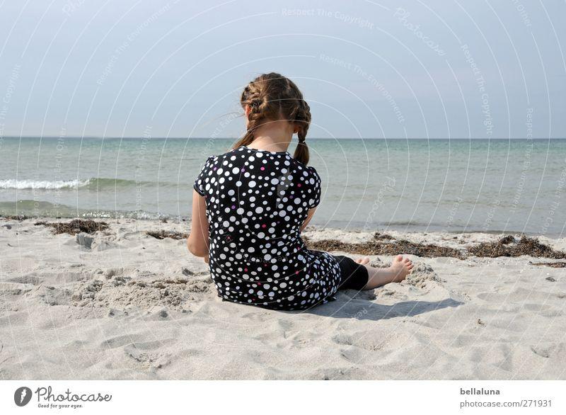 Hiddensee | Sonnenbrand before Mensch feminin Kind Mädchen Kindheit Leben Körper Kopf Haare & Frisuren 1 3-8 Jahre Natur Himmel Wolkenloser Himmel Wellen Küste