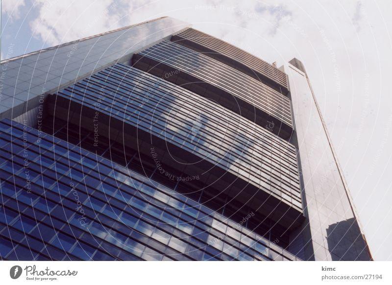 Commerzbank Frankfurt/Main Hochhaus Frankfurt am Main Gebäude Fenster Architektur Skyline Himmel