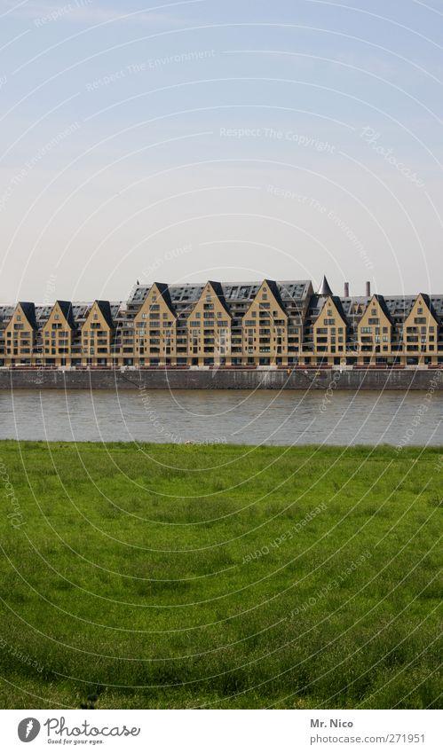 Siebengebirge Natur grün Stadt Haus Erholung Fenster Wiese Gras Architektur Gebäude Wohnung Häusliches Leben Spitze Fluss Bauwerk Skyline