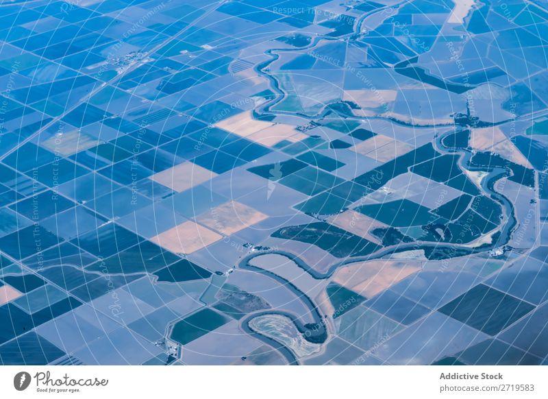 Plantagen aus der Luft Muster Fluggerät landwirtschaftlich ländlich Hintergrundbild Quadrokopter Großgrundbesitz Natur Landwirtschaft Feld Ackerbau Quadkopter