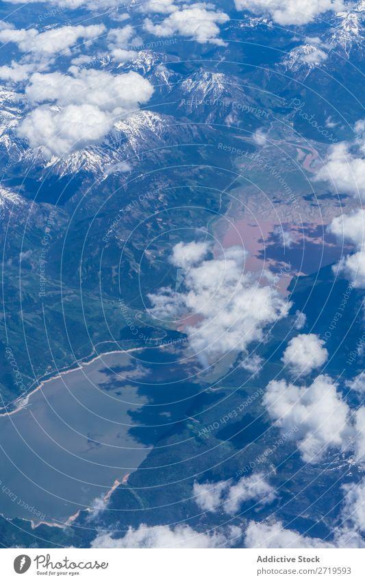 Bergrücken in den Wolken Berge u. Gebirge Reichweite Fluggerät Dröhnen Schnee Panorama (Bildformat) Landschaft extrem Aussicht Gipfel Quadkopter weiß