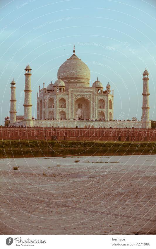 Taj Mahal alt Ferien & Urlaub & Reisen Architektur Gebäude Reisefotografie Tourismus Fluss Asien historisch Indien Sehenswürdigkeit Tourist Sightseeing