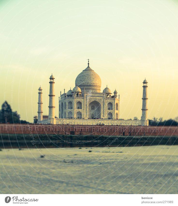 Taj Mahal alt Ferien & Urlaub & Reisen Architektur Gebäude Reisefotografie Tourismus Fluss Asien historisch Indien Sehenswürdigkeit Tourist Sightseeing Taj Mahal