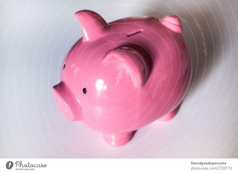 Rosa Sparschwein Bank Spardose Einsparungen Pfand Geld Investition Fonds Erträge rosa Wirtschaft Gutschein Darlehen Kapitalwirtschaft Investierung Geborgenheit