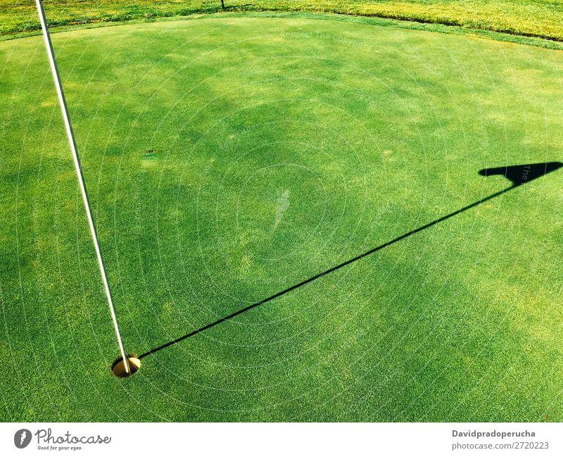 Leere Golfplatzwiese Feld Golfloch Natur Gras Wiese Erholung Putten