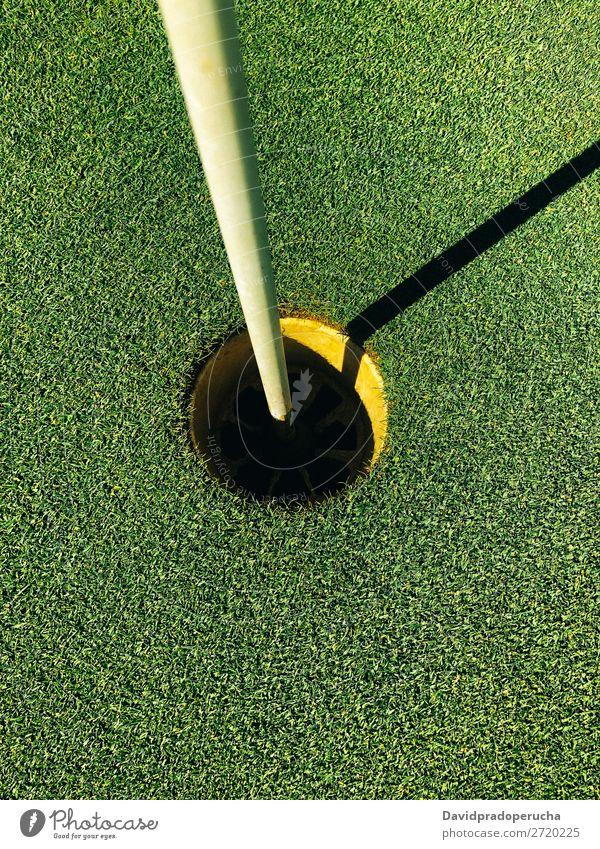 Leeres Golfplatzloch Feld Golfloch Natur Gras Wiese Erholung Putten