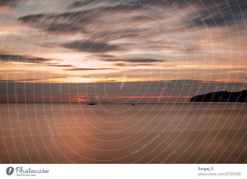 Verschwommen Natur Landschaft Luft Wasser Himmel Wolken Horizont Sonnenaufgang Sonnenuntergang Küste Strand Ostsee Insel Rügen Binz Deutschland Menschenleer